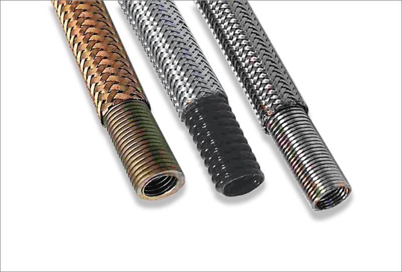 Flexible metal conduits for aerospace applications