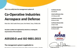 AS9100:D and ISO 9001:2015